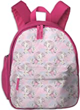Mochila Infantil niña,Unicorn Mom In Pink_5052 - comfybabyboutique, para escuelas Infantiles Oxford Cloth (Rosa)