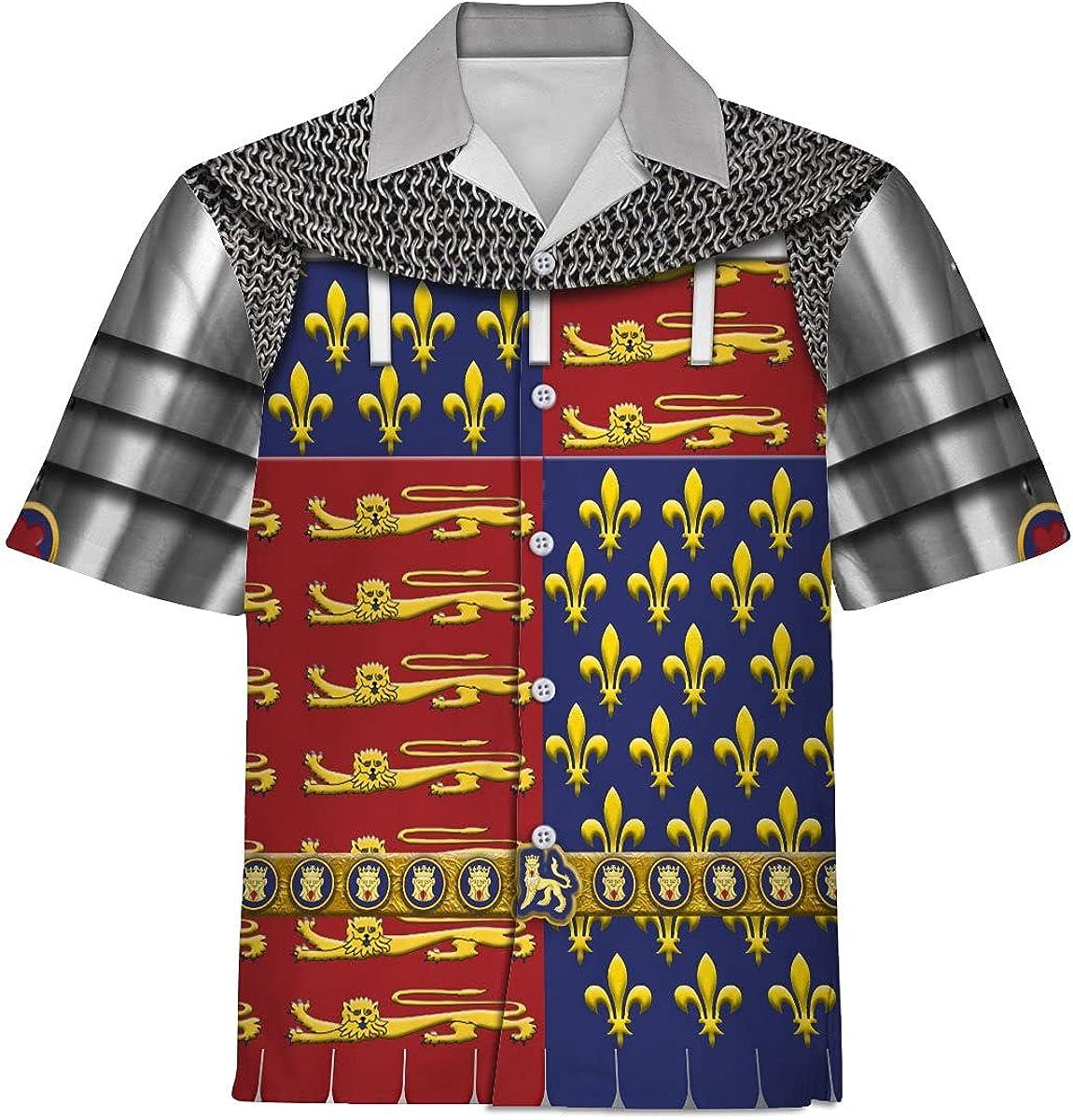 XStyles18 Unisex Hawaiian Shirt Memphis Mall Edward Hi Armor Prince Black The Department store