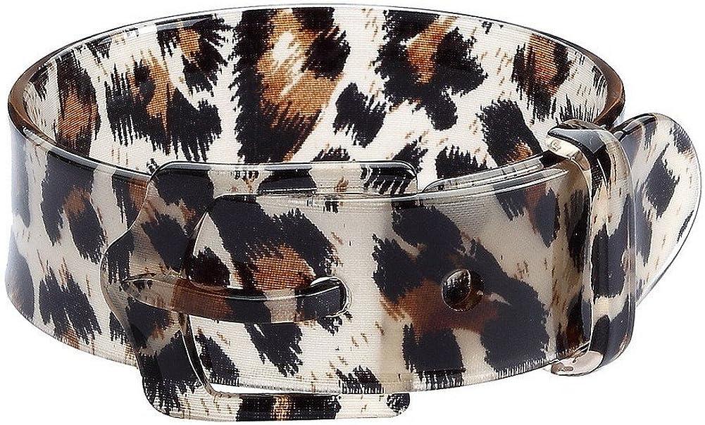 Bangle-bracelets Animal Print Belt Buckle Style Made With Acrylic