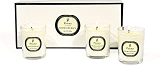 Praks London Tot Glass Set includes 3 x 10 cl Candles, Lily of the Valley