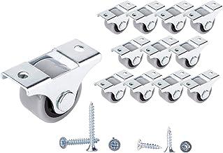12 stuks 25 mm kleine wielen wielen rubberen wielen wielen voor meubels niet-draaibare niet-kunststof apparatuur en appara...
