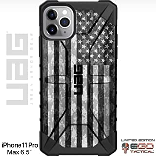 Limited Edition Customized Prints by Ego Tactical Over a UAG Urban Armor Gear Case for Apple iPhone 11 Pro Max - USA Subdued Digital Camouflage Flag