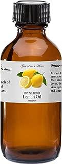 Lemon Essential Oil - 2 fl oz -100% Pure and Natural - Therapeutic Grade - Grandma's Home