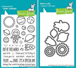 Lawn Fawn Out of This World Stamp and Die Set - Two item Bundle