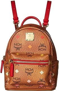 mcm stark medium backpack cognac