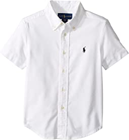 Polo Ralph Lauren Kids - Performance Oxford Short Sleeve Button Down Shirt (Toddler)
