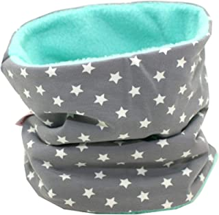 Kinder Schlauchschal Warm weich Baumwolle Schal Unisex Junge M/ädchen Sterne muster mode Schal Winter Basic Halstuch ultraleichte Rundschal viele Bunte Farben Allence