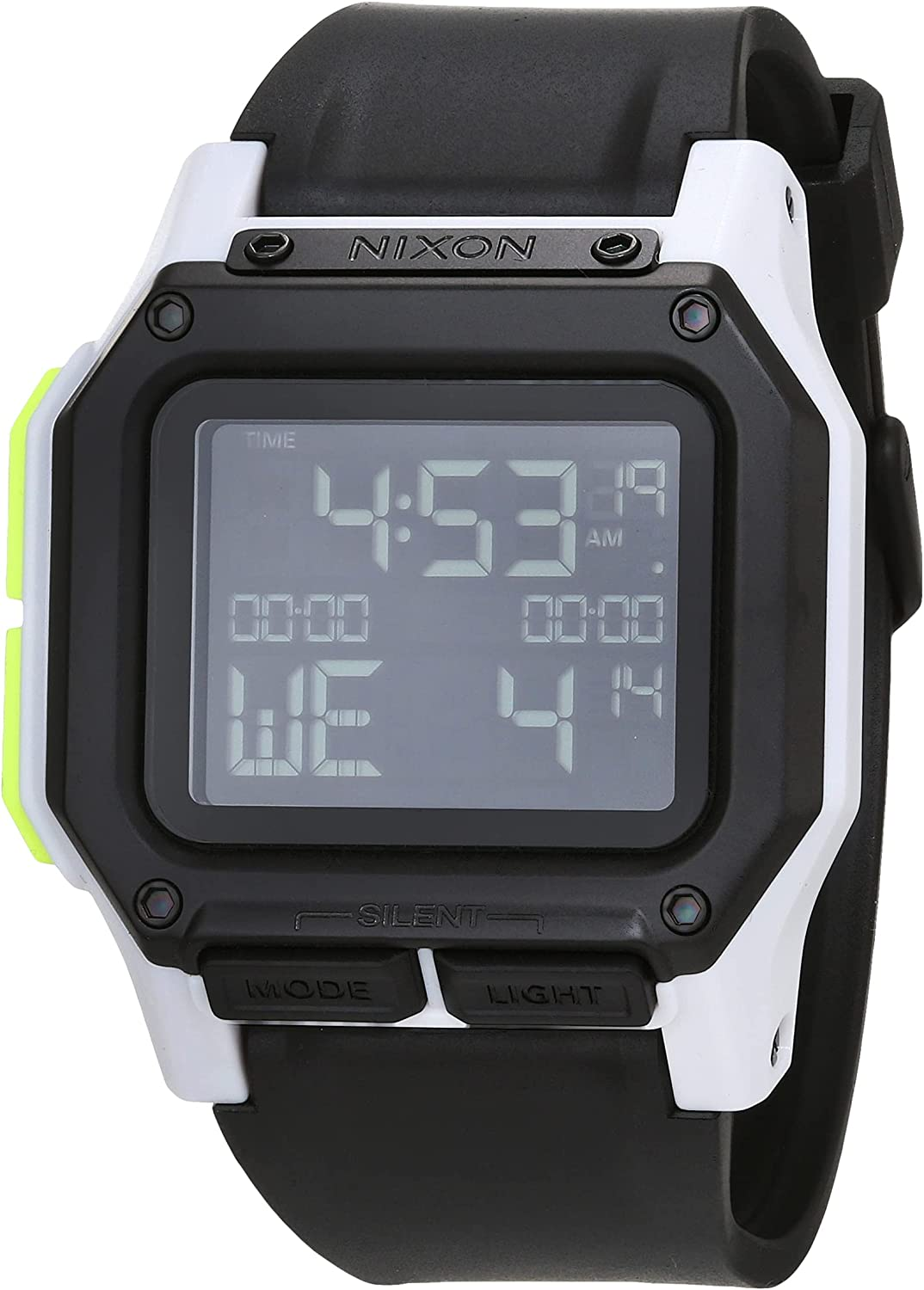 NIXON Regulus A1180-100m Water Resistant Men's Digital Sport Watch (46mm Watch Face, 29mm-24mm PU/Rubber/Silicone Band)