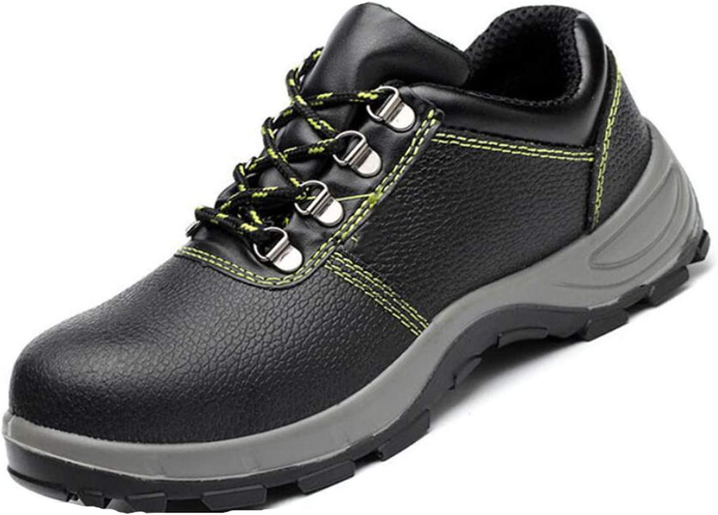 YLJXXY Men's Work Safety ShoesWaterproof Industrial Construction Steel Toe Footwear Outdoor Slip Resistant Puncture Proof Boots,Black Low Cut,39