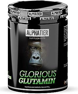 L-GLUTAMINE Poeder 0,5 kg Ultrapuur - 99,95% zuiver - MAXIMUM DOSAGE - ALPHATIER Glorious Glutamine Poeder zonder toevoegi...