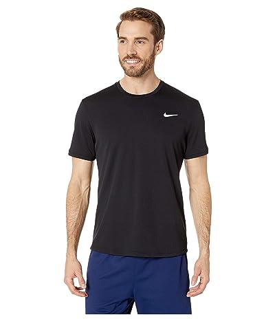 Nike NikeCourt Dri-FIT Short Sleeve Tennis Top (Black/Black/Black) Men