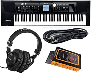 Roland Portable Keyboard (BK-5) + HP2000 Studio Headphone with Aux Cable and Magnet Phone Holder, BK5 M