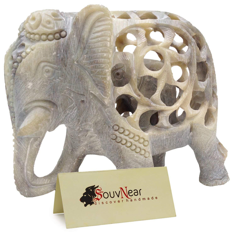 White, 5 Inch Elephant Device Handmade
