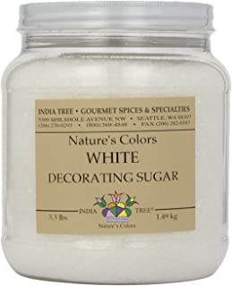 India Tree Frost White Decorating Sugar, 3.3 Pound