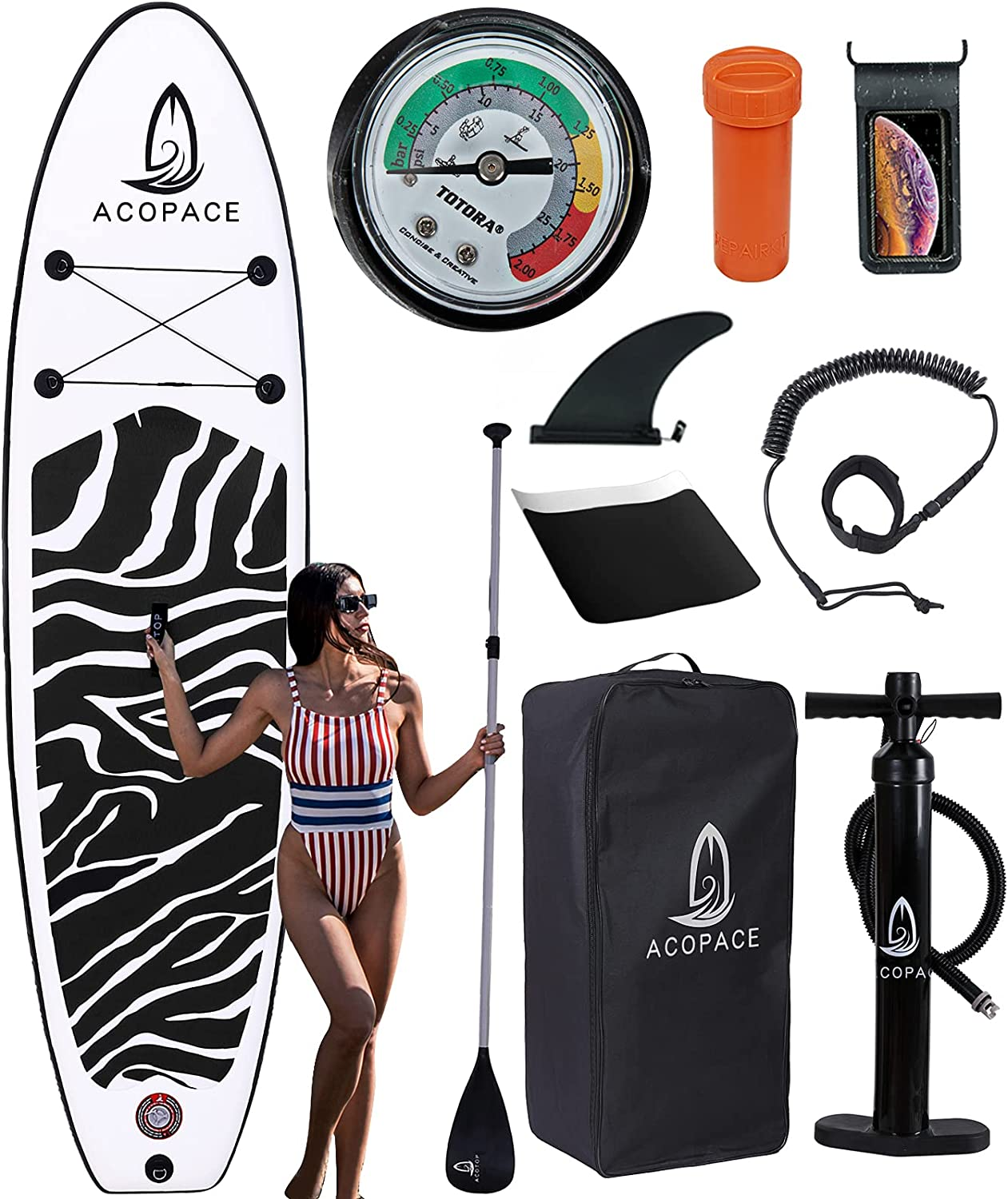 Max 74% OFF ACOTOP Inflatable Paddle Boards Max 84% OFF Paddleboa Stand 10'6