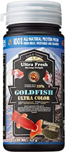 [Picky Ranchu/Oranda Goldfish Food] Ultra Fresh - Goldfish Ultra Color, Natural Spirulina, Seaweed, Wild Sword Prawns, Helps Ranchus/Orandas to Develop Saturated Color, and Keep Cleaner Water, Slow Sinking Pellets