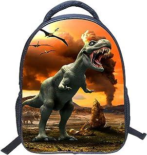 Mochila para niños Dinosaurio, 3D Dinosaurio vívido Impresión Mochilas Escolares para niños de Primaria Kindergarten Niños y niñas (Dinosaur 1)