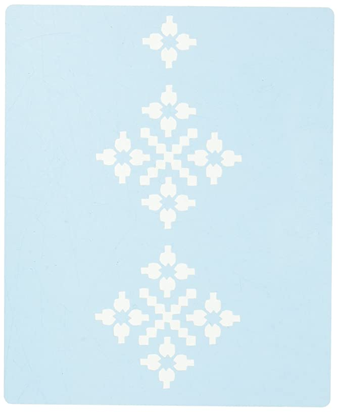 Faux Like a Pro Swedish Lace Stencil, 5.5 by 7-Inch, Single Overlay