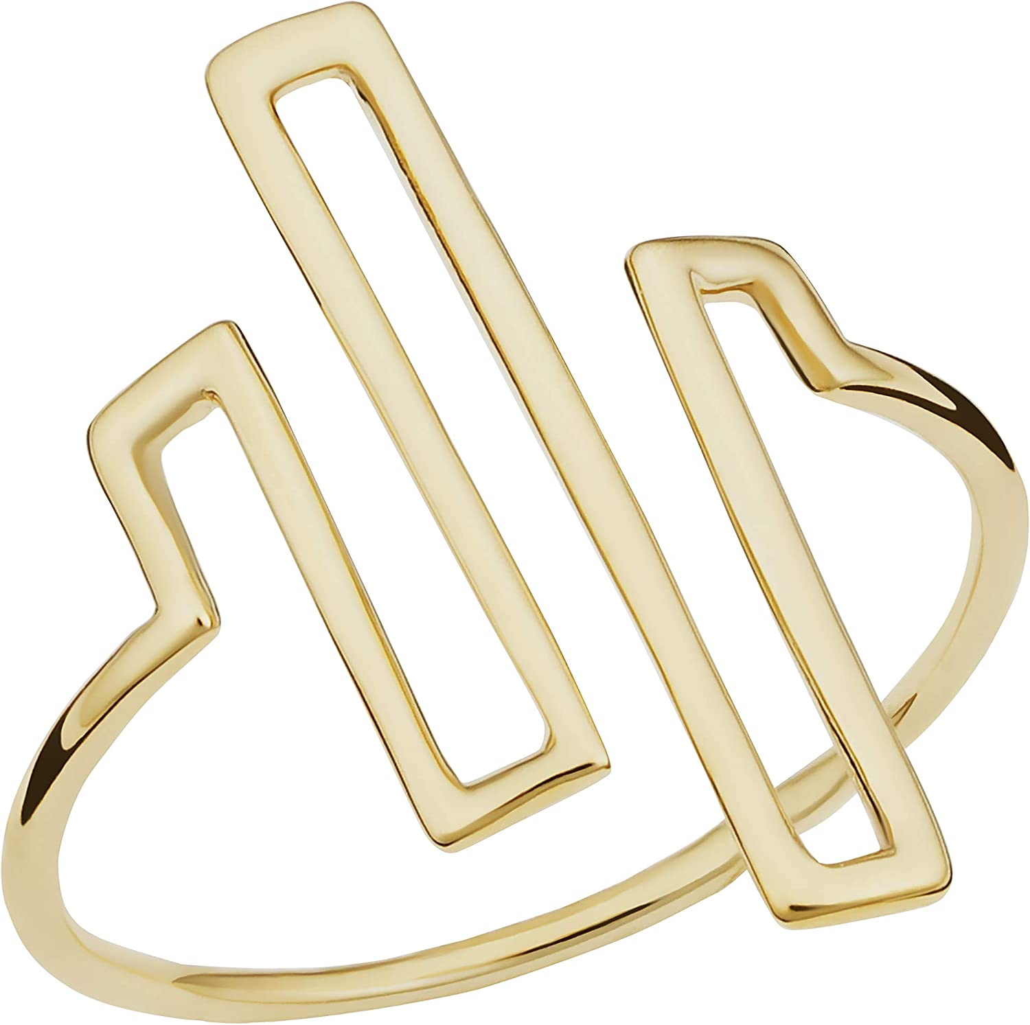 14k Yellow Gold Line Wire Ranking TOP15 Women Luxury Ring for Maze