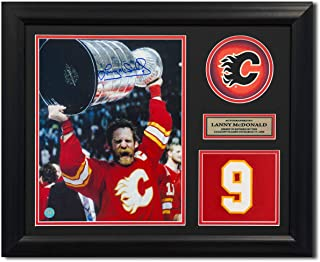 Lanny McDonald Calgary Flames Autographed Autograph Retired Jersey Number 23x19 Frame - Certificate of Authenticity Included