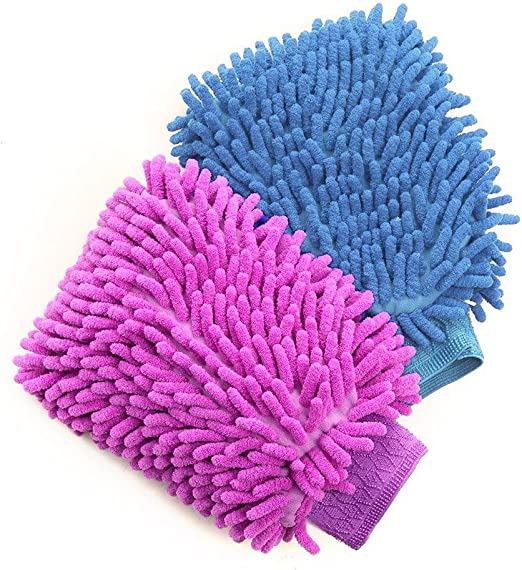 Sludge Removal Car Accessory Cleaning Gloves Fiber New Cleaner Washing Gloves HY