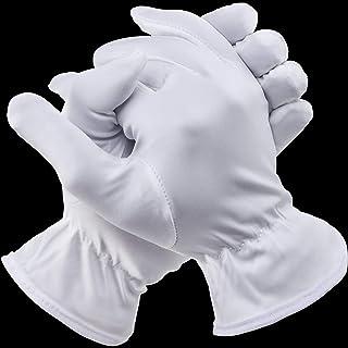 3 Paare Halloween Vollfinger Handschuhe Kostüm Zubehör für Halloween Party (Kurz Weiß, Erwachsene Damen)