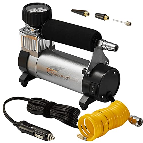 Portable Air Compressor, Hausbell Air Compressor Kit Mini DC12V Multi-Use Oil-Free