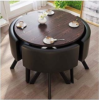 Mesa de comedor Juego de muebles Recepción de la oficina Mesa redonda simple Cocina Mesa de comedor 90cm1 mesa 4 sillas mesa de la sala de estar y Presidente de combinación en casa habitación La negoc