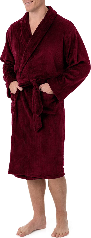 CHAPS mens Drop-needle Comfort Soft Robe