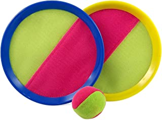 Catch and Toss Game, Catch Ball Sports Game Set /paddle catch and toss for Kids with Grip Mitt and Ball Paddle Catch and toss/ Bean Bag Ball