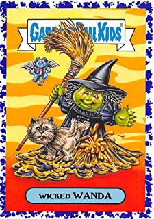 2018 Topps Garbage Pail Kids Oh The Horror-ible Classic Film Monster Stickers A Jelly #15A WICKED WANDA Collectible Trading Card Sticker