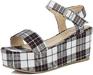 BalaMasa Womens ASL06259 Pu Platform Heels