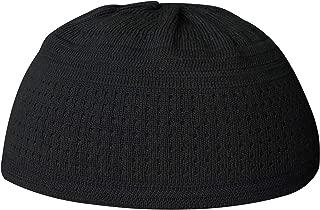 X-Large Plain Black Cotton Stretch Knit Kufi Hat Prayer Cap - Comfortable Fit