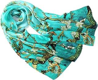 prettystern Donna 100% di Seta Sciarpa Stole di Opere D'arte di Pittura Van Gogh Stampa Artistica