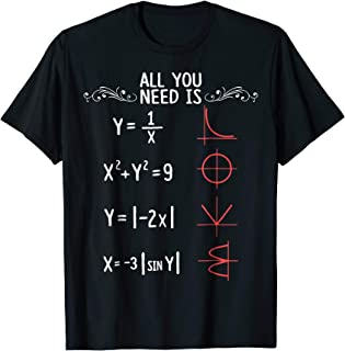 All You Need Is Love Math T shirt