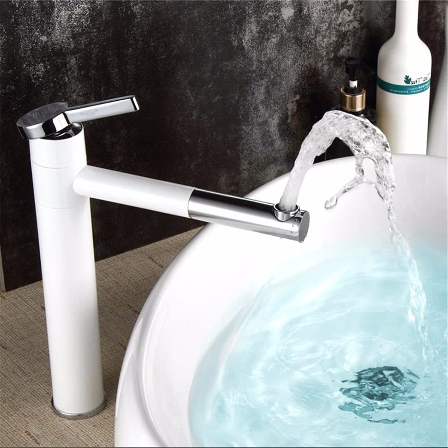 Pengei Tap Basin Mixer Kitchen Sink Mixer Faucet redary White Counter Basin