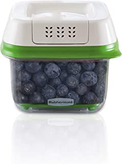 Rubbermaid FreshWorks Produce Saver Food Storage Container, 2.5 Cup Green 1920480
