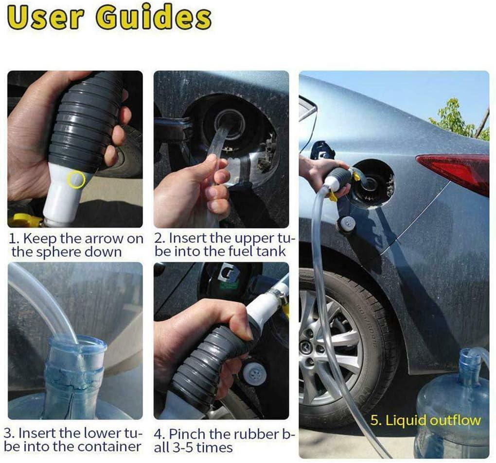 Jxueych Car Fuel Tank Sucker Newest High Flow Siphon Hand Pump Portable  Manual Car Fuel Transfer Pump for Gas Gasoline Petrol Diesel Oil Liquid  Water ...