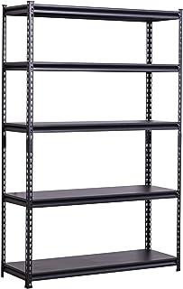 BAAB - Estantería organizadora para garaje (153 x 80 x 30 cm, metal resistente, estantes de acero sin tornillos, estantes de acero de 5 niveles (100 kg por estante)
