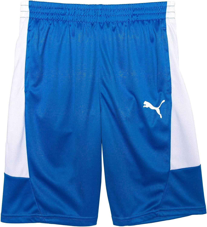 PUMA Boys' Shorts, Rebel Side - Palace Blue, Medium (10-12)