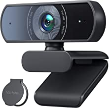 Victure 1080P Webcam with Privacy Cover, Dual Stereo Microphones PC Camera, Full HD Video Camera for Computers PC Laptop D...