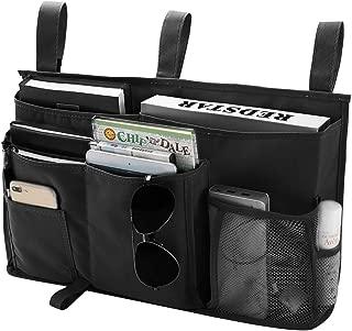 Bseash 8 Pockets 600D Oxford Cloth Caddy Hanging Organizer Bedside Storage Bag for Bunk and Hospital Beds,Dorm Rooms Bed Rails (Black)