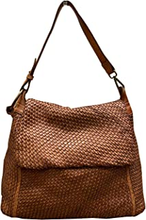 BZNA Bag Tarja cognac Italy Designer Messenger Damen Handtasche Schultertasche Tasche Leder Shopper Neu