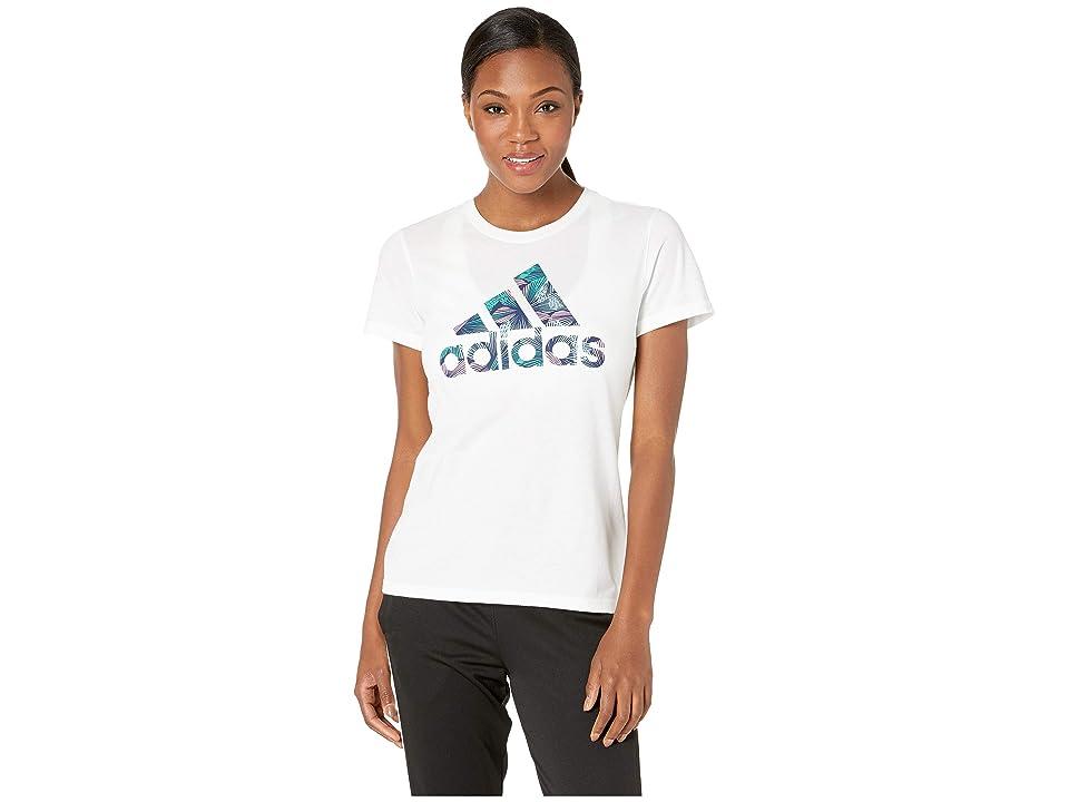 adidas Troical Badge of Sport Tee (White) Women