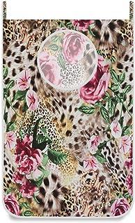 Panier à linge suspendu sac à linge imprimé léopard animal rose porte / mur / placard suspendu grand sac à linge panier po...