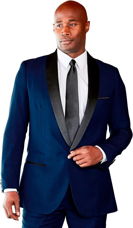 KS Signature by Kingsize Men's Big & Tall Tuxedo Jacket - Big - 56, Blue