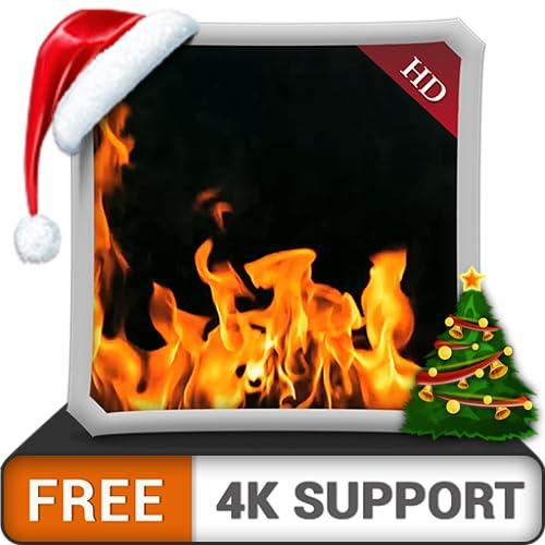 Kostenloses gelbes Kamin-Ambiente - genießen Sie die kalten Winternächte in den Weihnachtsferien auf Ihrem HDR 4K-Fernseher, 8K-Fernseher und Feuergeräten als Hintergrundbild und Thema für Vermittlung