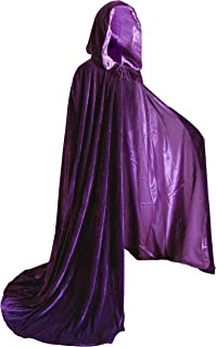 Artemisia Designs Velvet Hooded Renaissance Cloak Medieval Cape Lined with Satin Men and Women