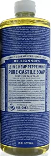 Dr. Bronner Hemp Peppermint Pure Castile Oil Made With Organic Oils Certified - 25 OZ