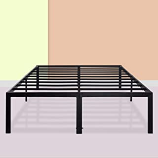 PrimaSleep 18 Inch Ultimate Strength High Profile Heavy Duty Steel Slat/ Anti-slip/ Extra Support/ Easy Assembly/ Mattress Foundation/ Noise Free/ No Box Spring Needed, Black  ,Queen